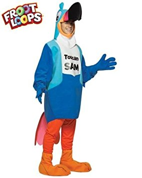 284x355 Kellogg#39s Fruit Loops Cereal Toucan Sam Costume Adult Standard