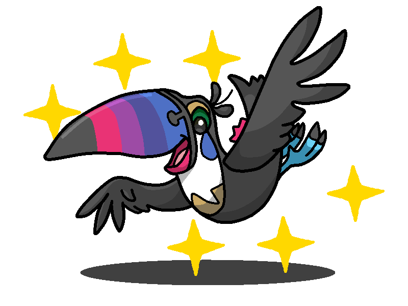800x600 Shiny Toucannon + Toucan Sam (Froot Loops) by shawarmachine on