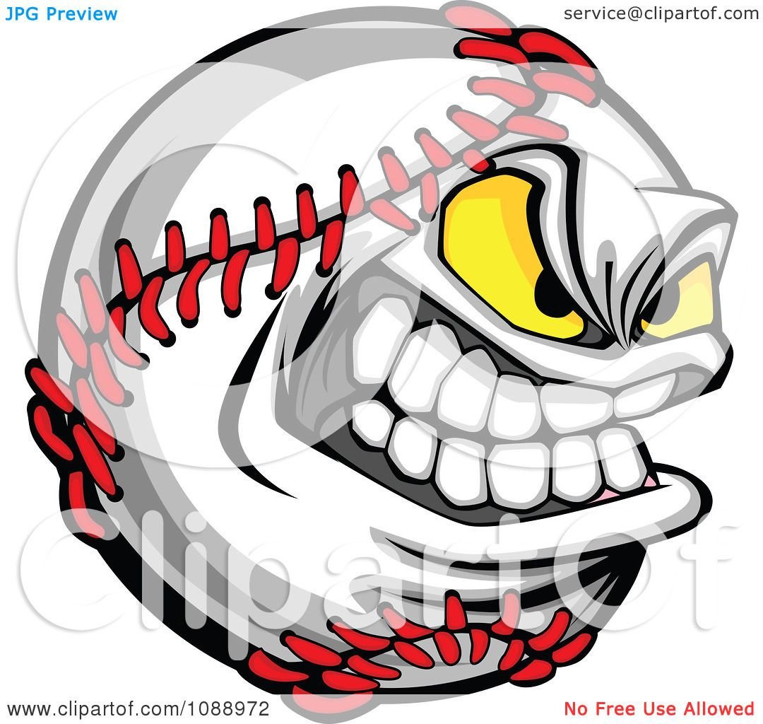1080x1024 Clipart Tough Baseball Mascot