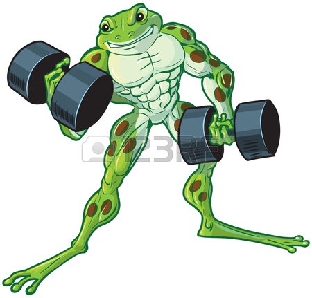 450x431 Vector Cartoon Clip Art Illustration Of A Muscular, Tough,