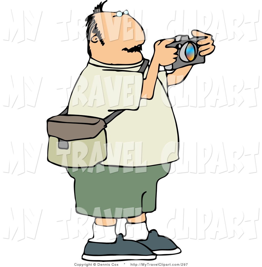 1024x1044 Clipart Of A Heavyset Man Taking Pictures With A Digital Camera