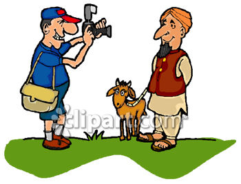 350x268 Tourist Taking A Picture Of An Indian Goat Herder Clip Art