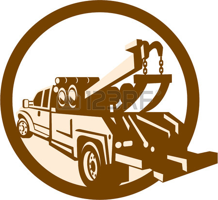 450x412 4,291 Tow Truck Stock Vector Illustration And Royalty Free Tow