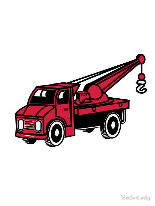 600x800 Car Toy Truck Crane Tow Truck Mounted Crane Truck Art Prints By