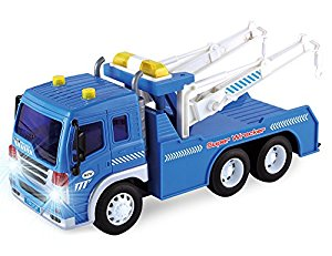 300x231 Friction Powered Wrecker Tow Truck 116 Toy Towing
