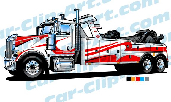 576x346 Peterbilt Heavy Duty Tow Truck Vector Art Car Clip