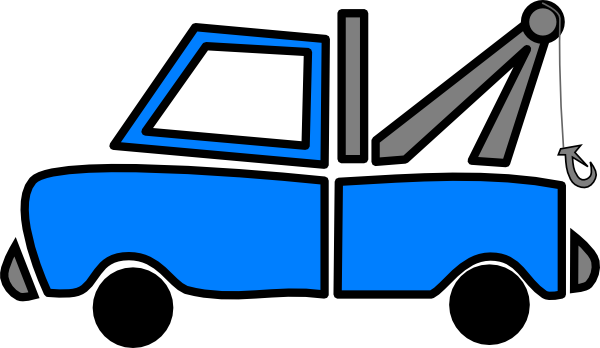 600x348 Tow Truck Blue Tow Clip Art