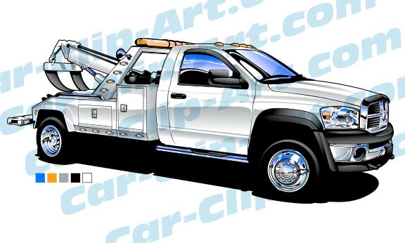 576x346 Dodge Ram Light Duty Tow Truck Vector Art Car Clip