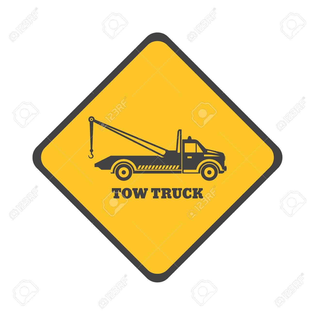 1299x1300 Tow Truck Icon On A White Background. Round The Clock Evacuation