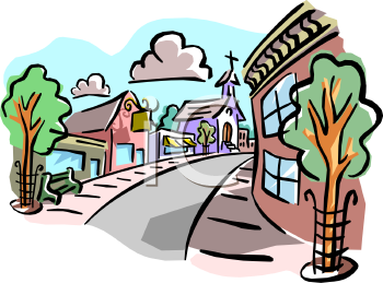 350x259 Town Clipart Small Town