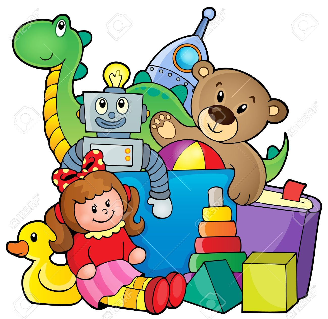 1300x1261 Heap Of Toys Royalty Free Cliparts, Vectors, And Stock