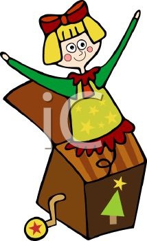 214x350 Royalty Free Clipart Image Cartoon Jill In The Box Toy