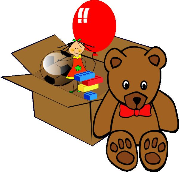 600x579 Box Full Of Toys Clip Art