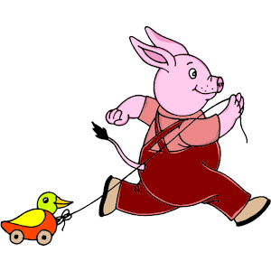 300x300 Rabbit Pulling Duck Toy Clipart, Cliparts Of Rabbit Pulling Duck
