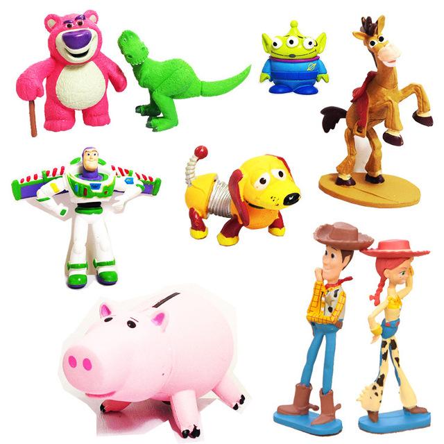 640x640 Toy Story Mini Figures 9 Pcs Set Cartoon Amp Anime Woody Rex Slinky