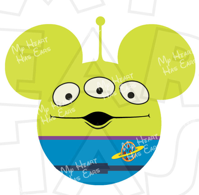 650x639 Toy Story Alien Mickey Mouse Ears Head With Instant Download