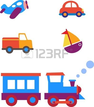 Toy Trains Clipart