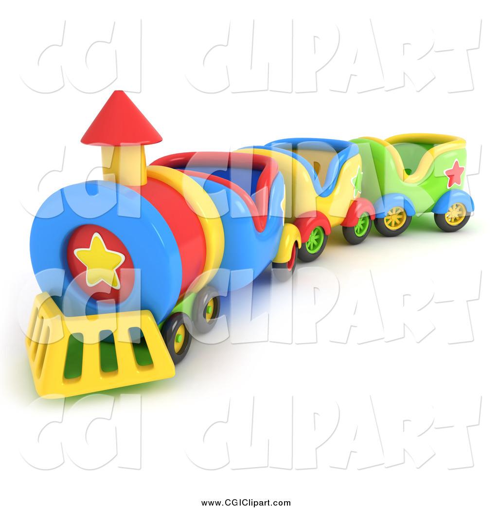 1024x1044 Clip Art Of A 3d Toy Train By Bnp Design Studio