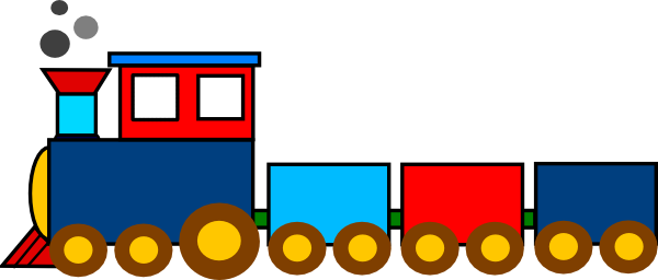 600x256 Clipart Of Toy Train