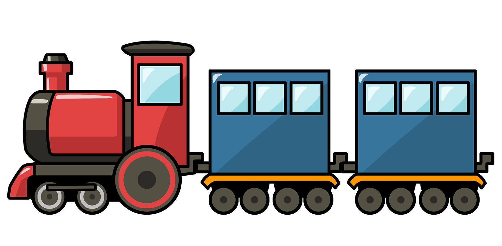 1600x783 Toy Train Clipart