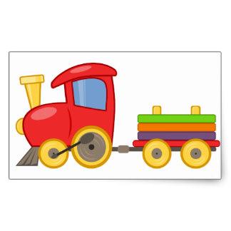 324x324 Toy Train Stickers Zazzle