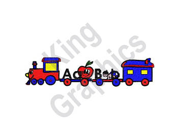340x270 Train Embroidery Etsy