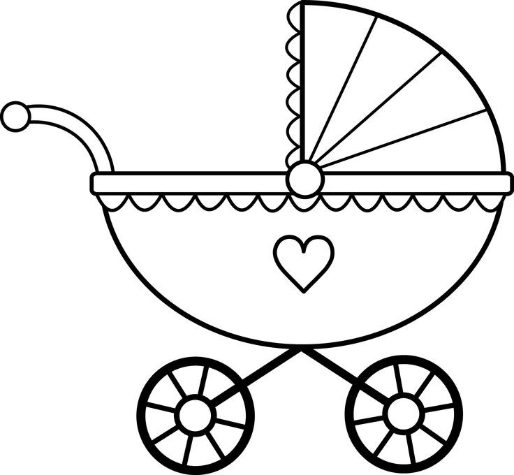736x680 Image of Baby Clipart Black and White