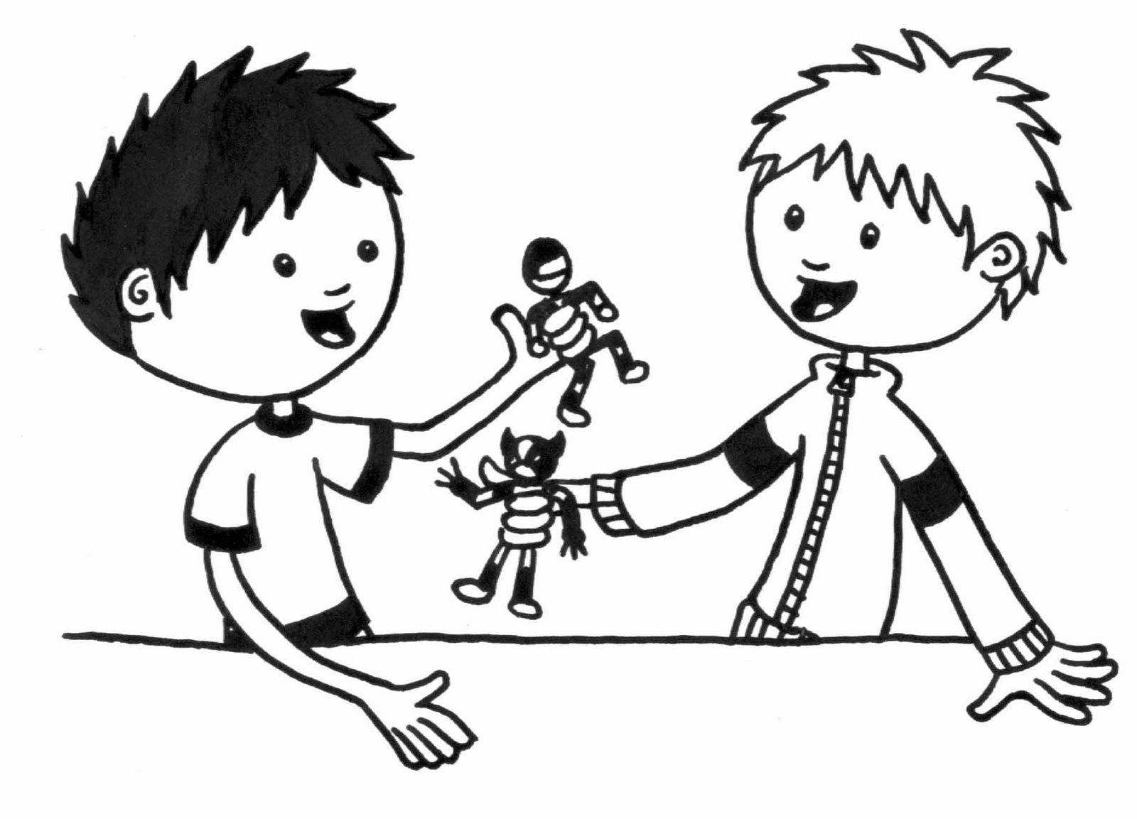 1600x1153 Sharing Toys Clipart