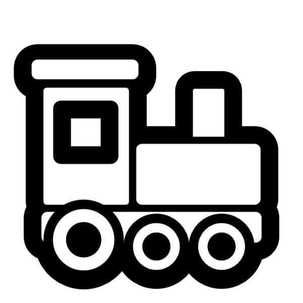 600x600 Toy Train Black And White Clipart