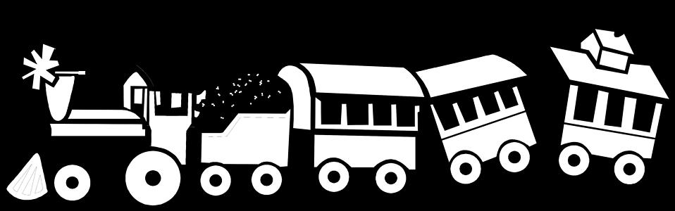 958x300 Train clipart black and white