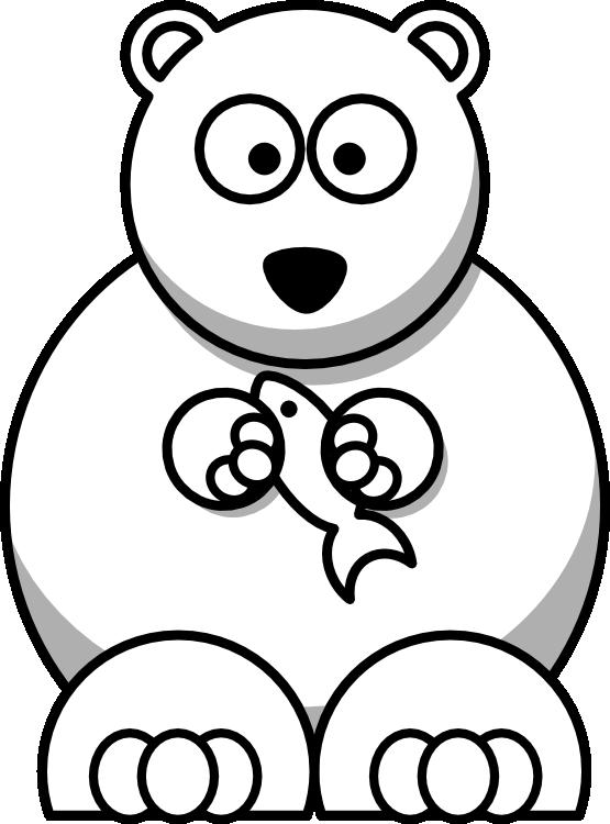 555x750 » Clip Art » lemmling cartoon bear black white line