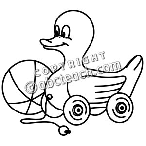 300x300 Black White And Duck Toy Clipart