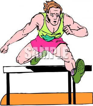 308x350 Track And Field Event Man Running Hurdles