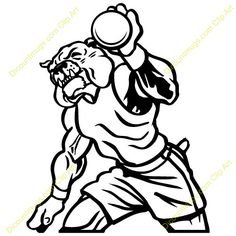 236x236 Bulldog Track And Field Shot And Discus Artwork Go Back