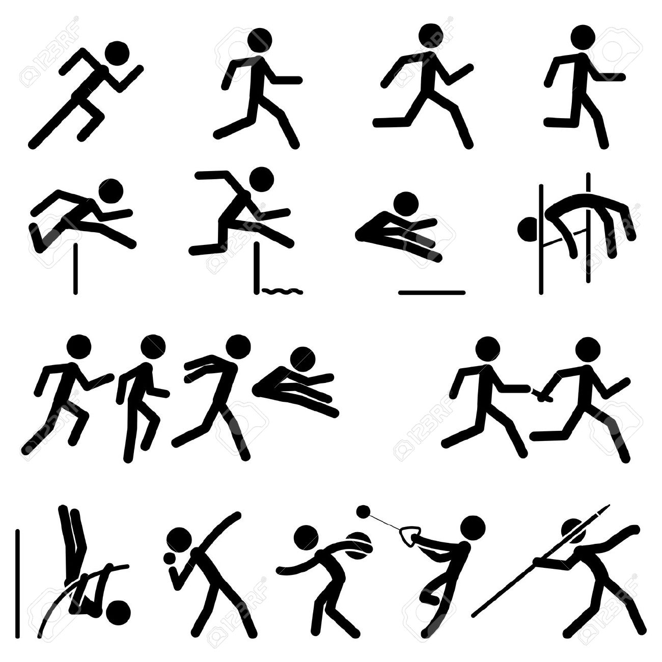 1300x1300 Jump Clipart Track And Field Event