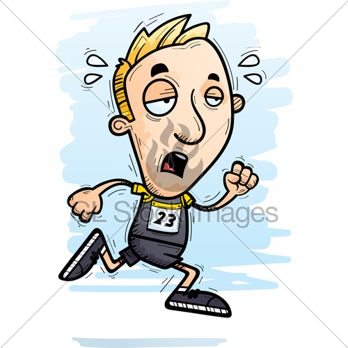 500x500 Exhausted Cartoon Track Athlete Gl Stock Images