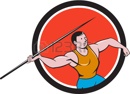 450x327 Illustration Of A Track And Field Athlete Javelin Throw Viewed