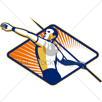 325x325 Shot Put Track And Field Athlete Cartoon Gl Stock Images