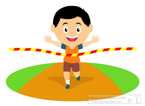 500x364 Track And Field Clipart Clipart Runner First Place In Race Track