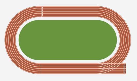 530x316 Running Track Clipart