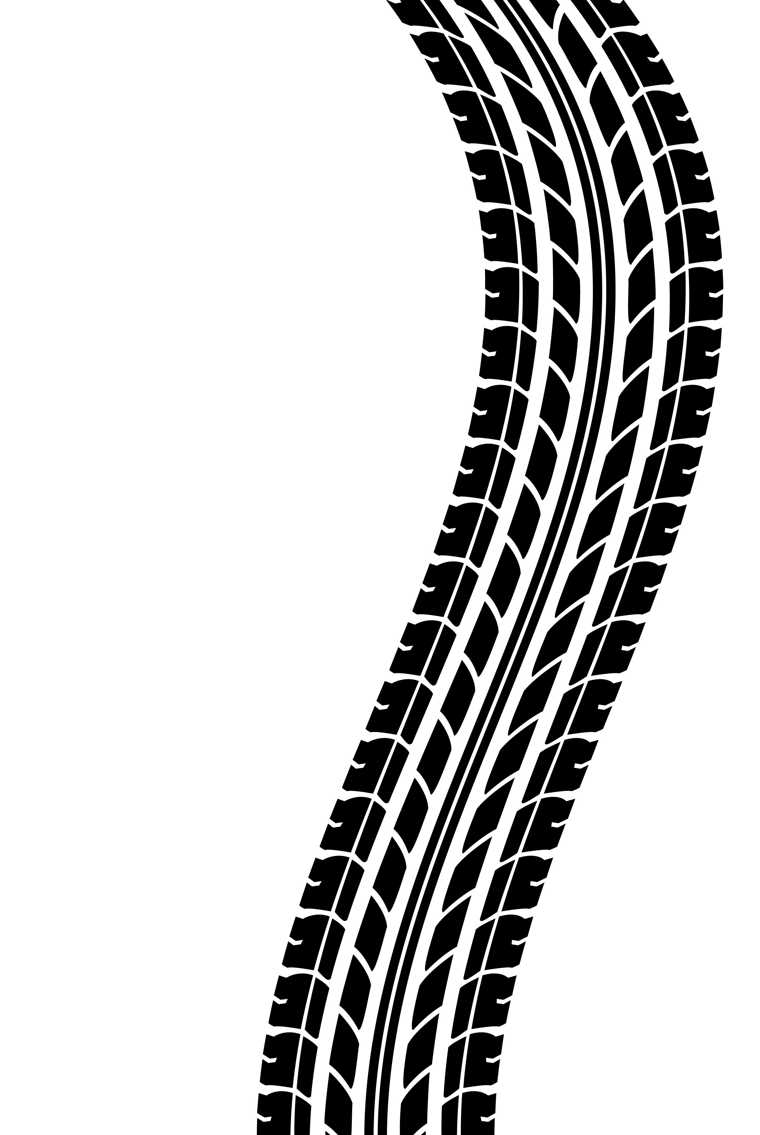 2592x3872 Tire Tracks Clip Art