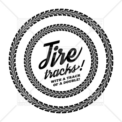 400x400 Tire Track Round Frame Royalty Free Vector Clip Art Image