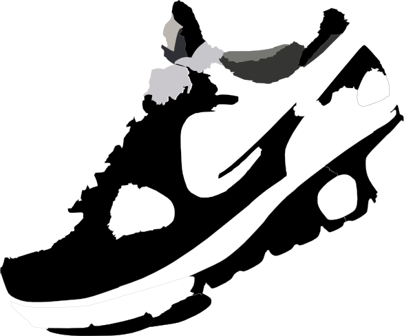 600x488 Track Shoe Nike Run Clip Art