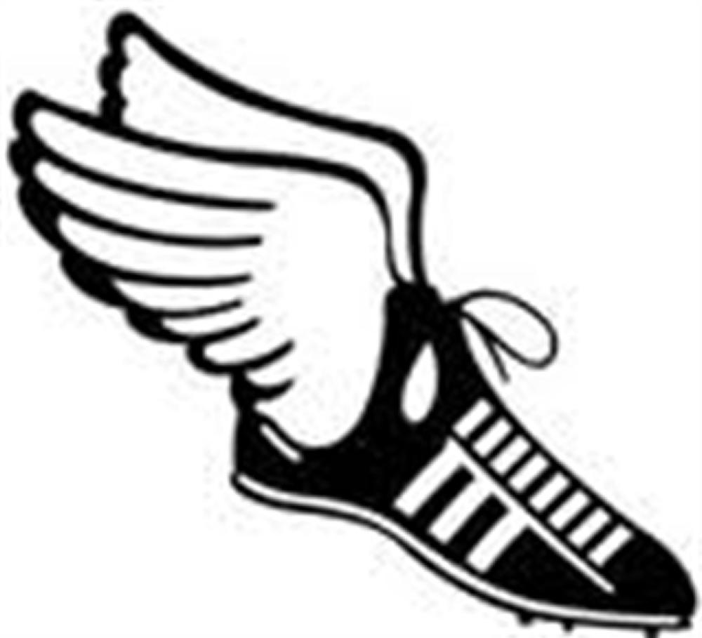 1000x909 Track Shoes Clip Art Clipart Image