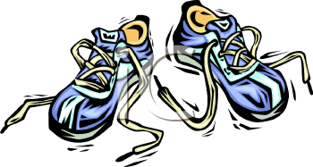 Track Shoes Clipart