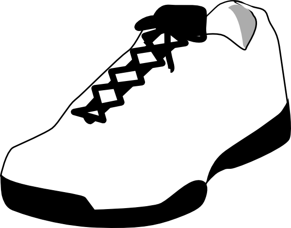 600x470 Gym Shoes Clipart Printable