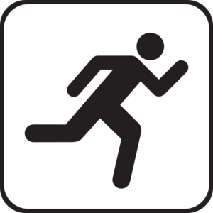 300x300 Runner Person Running Clipart Black And White Free 2