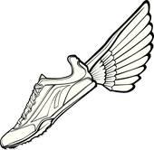 170x166 Running Shoes Clip Art