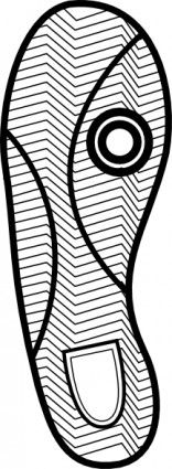 156x425 Clip Art Running Shoes Running Shoe Print For Track Clip Art