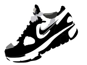 300x225 Nike Running Shoes Clipart